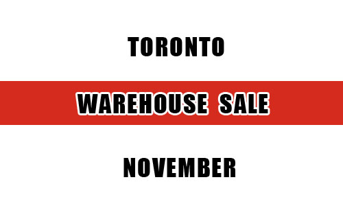 Top 15 warehouse sales in Toronto this November
