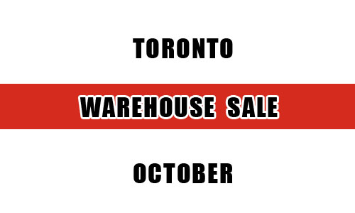 Top 10 warehouse sales in Toronto this October
