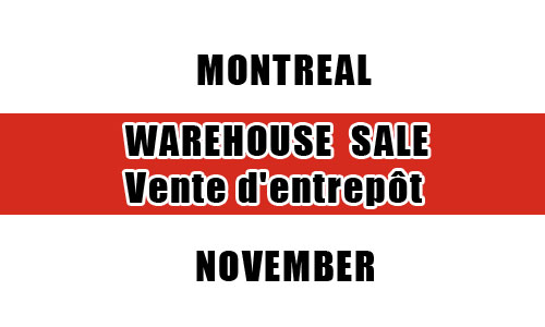 Top 15 warehouse sales in Montreal this November